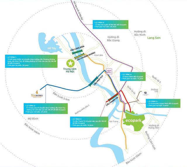 Khu đô thị Ecopark nằm vị trí đắc địa