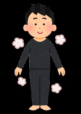 防寒肌着を着た人のイラスト(男性)