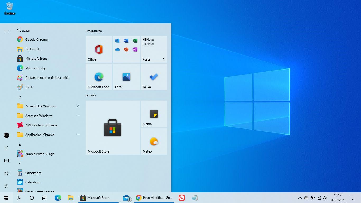 Nuova icona per Microsoft Store in Windows 10