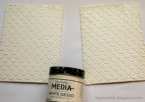 Layers of ink - Textured Vintage Notebook Tutorial by Anna-Karin Evaldsson. Paint with gesso.