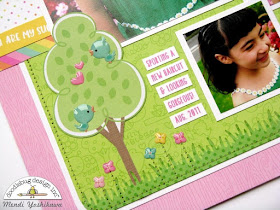 Doodlebug Design Spring Things Hello Sunshine Scrapbook Layout by Mendi Yoshikawa