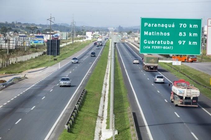 Aumentou de novo: Ecovia reajusta em 7,6% pedágio entre Curitiba e Litoral