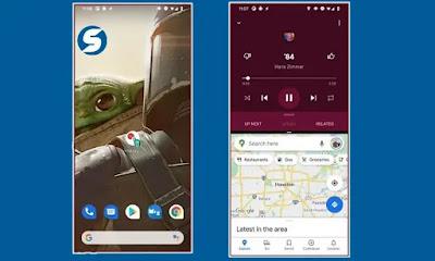 6- تسهيل وتحسين خاصية تقسيم الشاشة لتشغيل تطبيقين في وقت واحد :