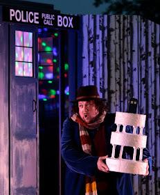 Matthew Stiff as Trofonio with his 'cave' - Trofonio's Cave - Bampton Classical Opera