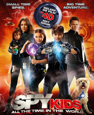 Poster Of Spy Kids All the Time in the World (2011) In Hindi English Dual Audio 300MB Compressed Small Size Pc Movie Free Download Only At worldfree4u.com