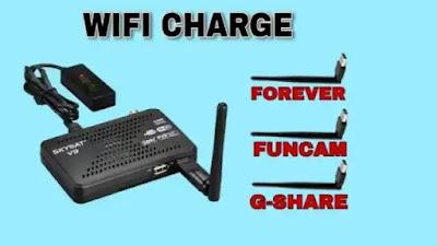 خاصية WIFI CHARGE في تحديثات اجهزة الاستقبال
