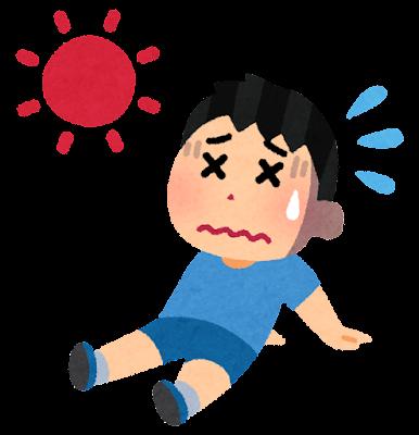 夏バテのイラスト(男の子)