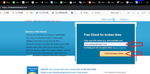 Cara Mudah Mengecek Broken Link di Blog dan Website