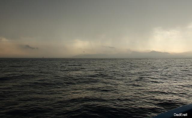 Pluie d'orage en Mer Méditerranée