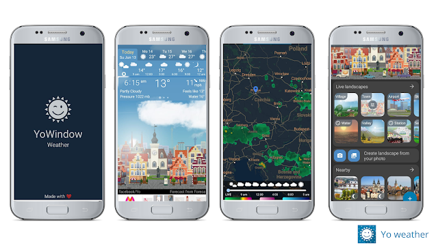 Yo Window weather, best weather app for Android