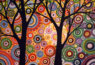 paisajes-coloridos-arte-moderno modernos-lienzos-paisajes-pintados