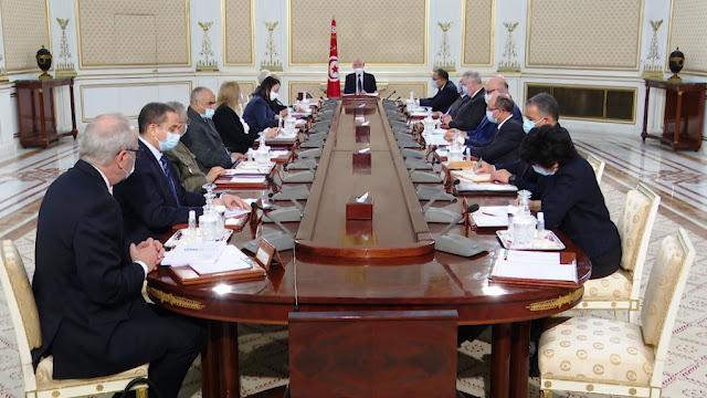 تونس  قيس سعيد في مجلس الامن القومي