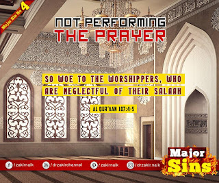 MAJOR SIN. 4.2. NOT PERFORMING THE PRAYER | Hadith Quote | Kabira Gunah
