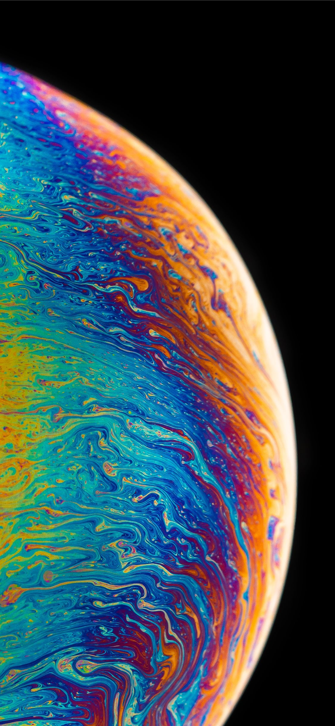 Colored Fluid Painting Iphone 11 Wallpaper