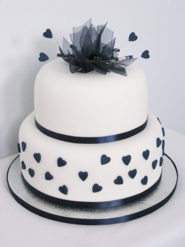 A Wedding Addict Dark Blue Wedding Cake Special Snow Angel