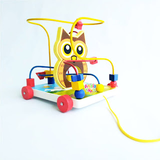 Wire Owl Mainan Kayu 3 Kawat