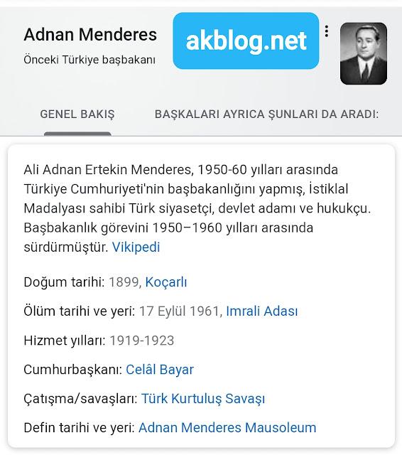 Adnan Menderes Kimdir Tarihçe-i Hayat