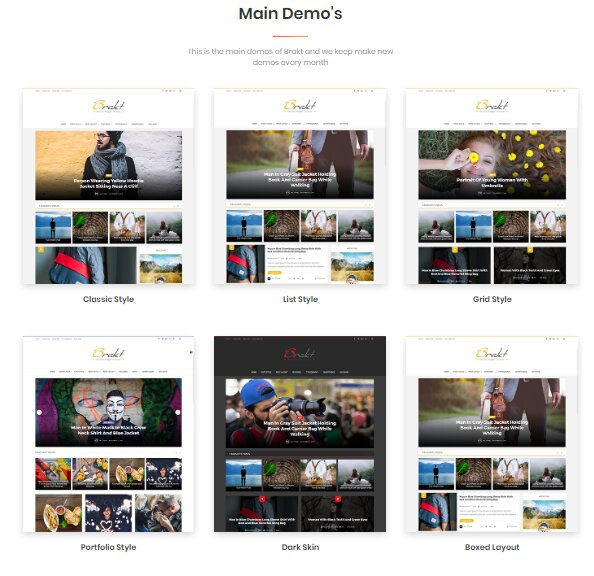 Brakt WordPress & Blogger Templates