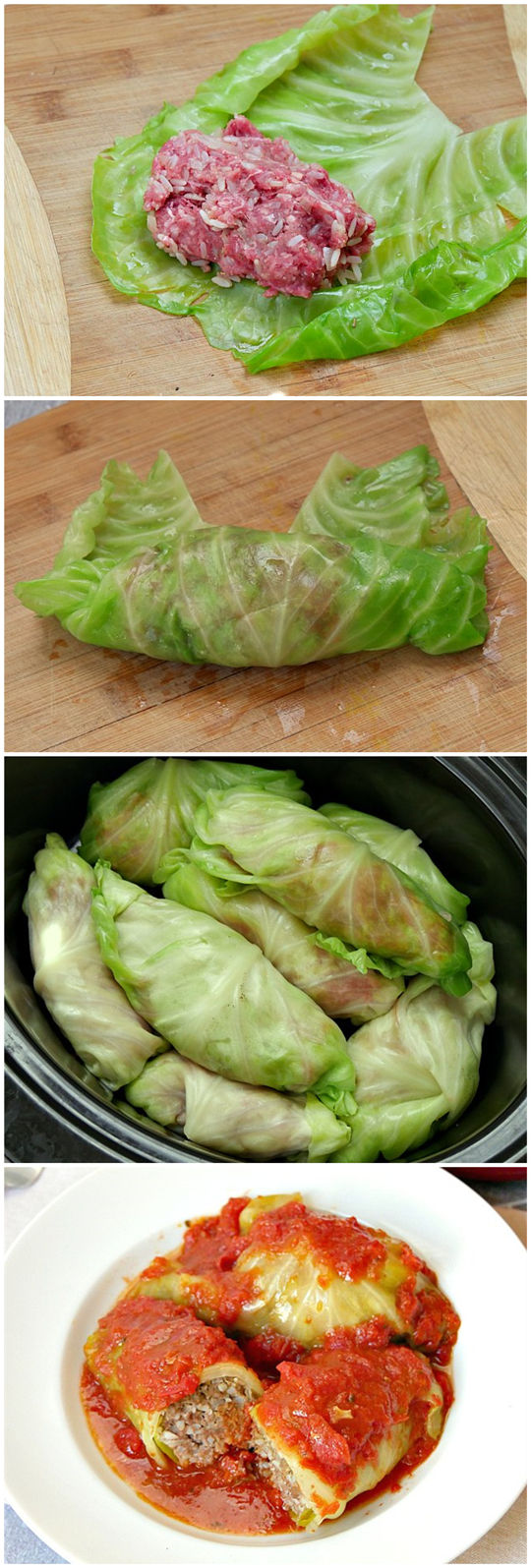 Slow Cooker Cabbage Rolls in Tomato Sauce