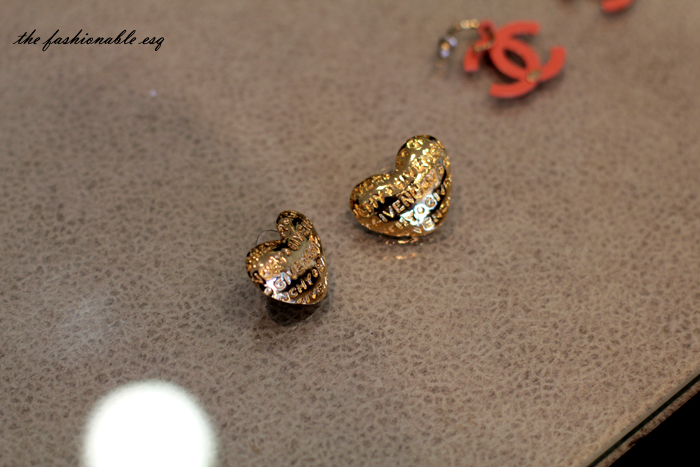 heart earrings rare chanel givenchy vintage