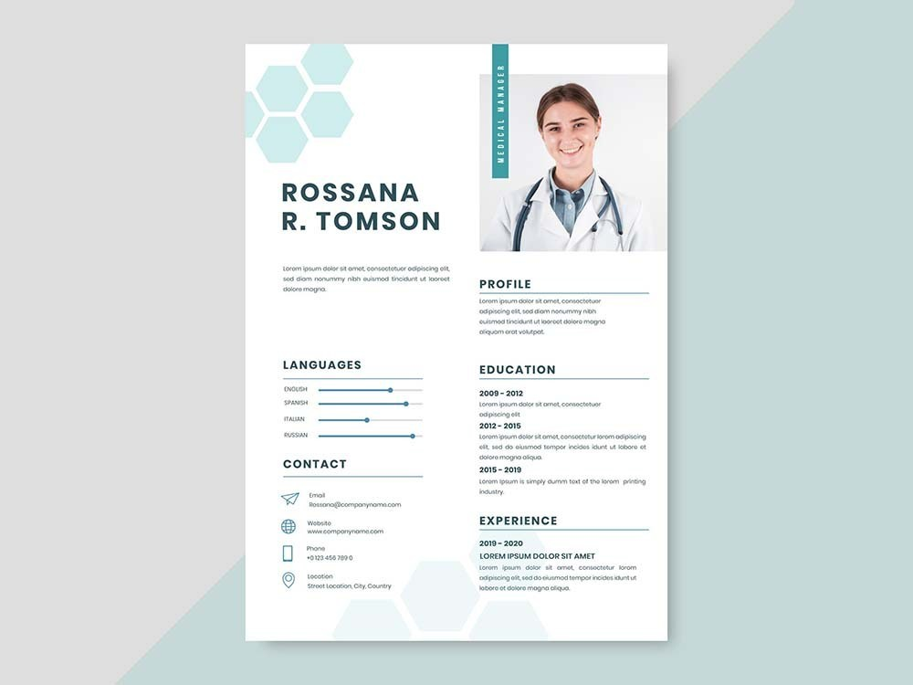 Free Hospital Manager Resume Template