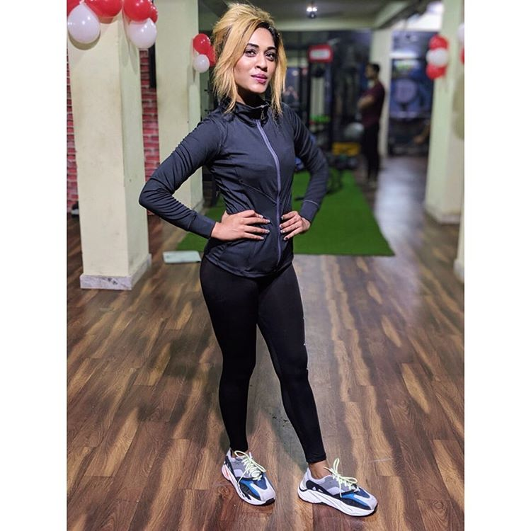 Gym workout picture  Actress Hritu Zee