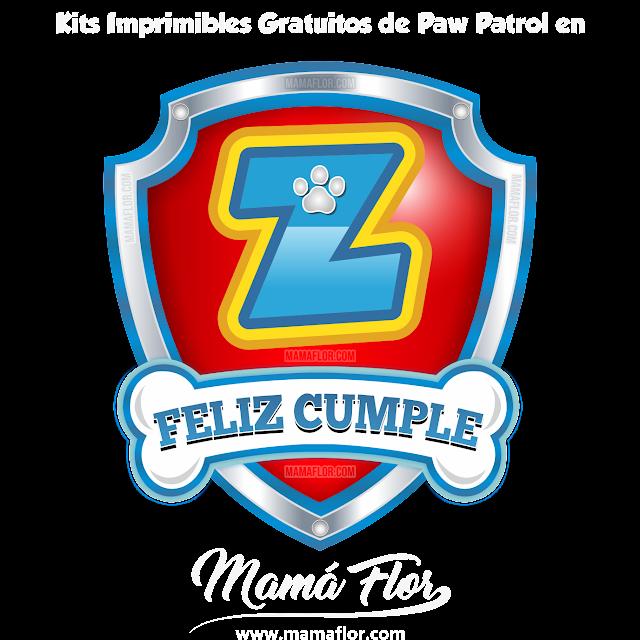 Logo Letra Z de Paw Patrol