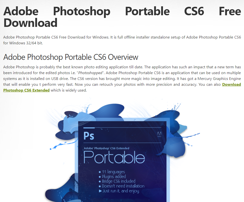 download photoshop cs6 free full version 32 bit