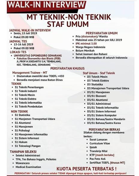 Lowongan Kerja Calon Karyawan Lion Air Group Juli 2019