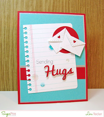 Sending Hugs card-designed by Lori Tecler/Inking Aloud-stamps and dies from SugarPea Designs