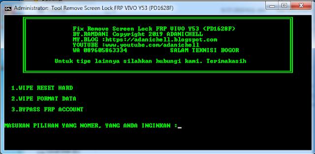 Tool Remove Screen Lock FRP VIVO Y53 (PD1628F)