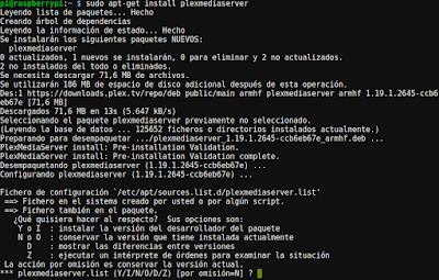 Instalar Plex server