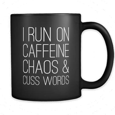 coffee caffeine cuss mug, funny mugs, coffee humor, coffee jokes, gift for coffee lover