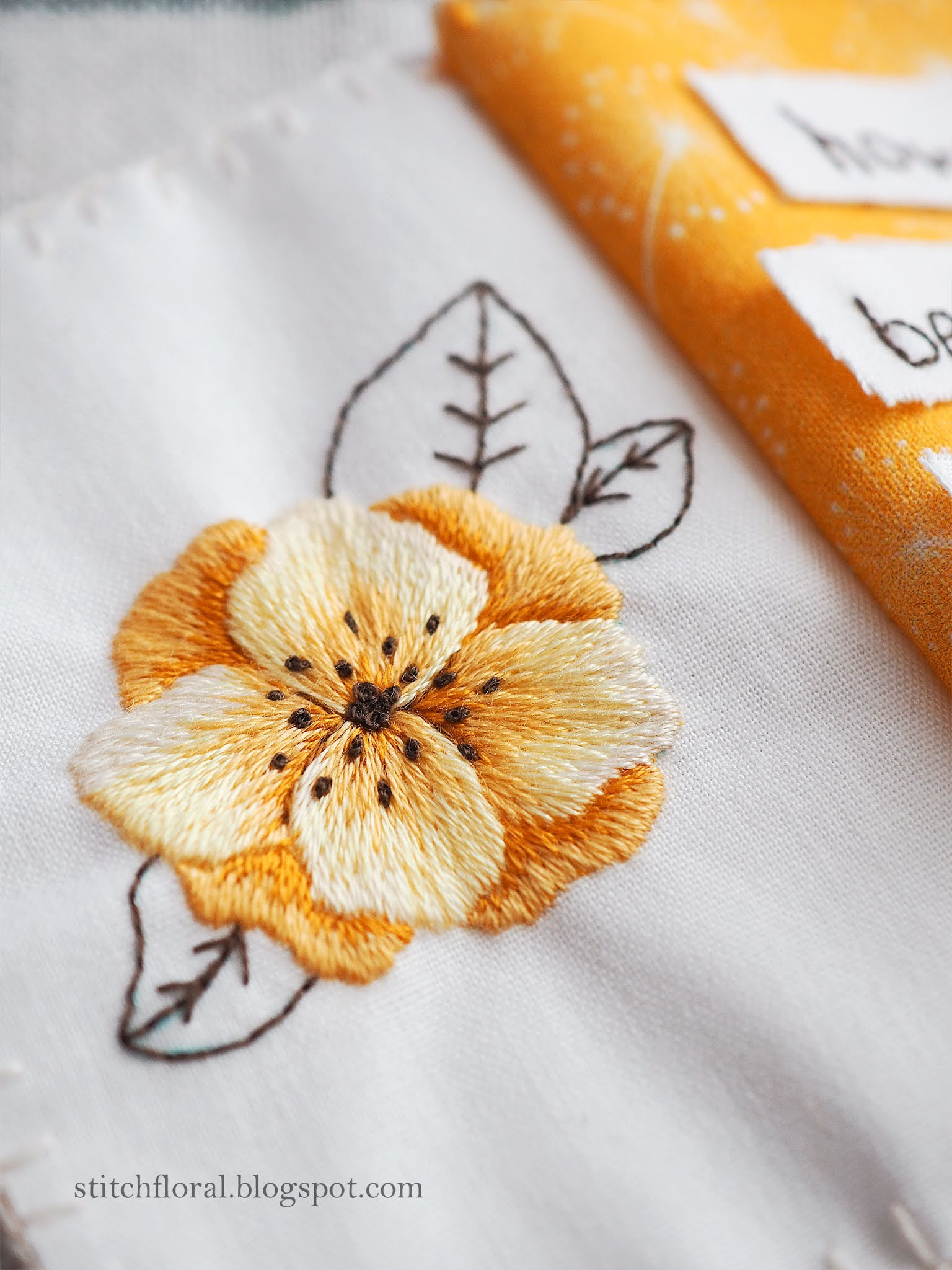 needlepainting flower