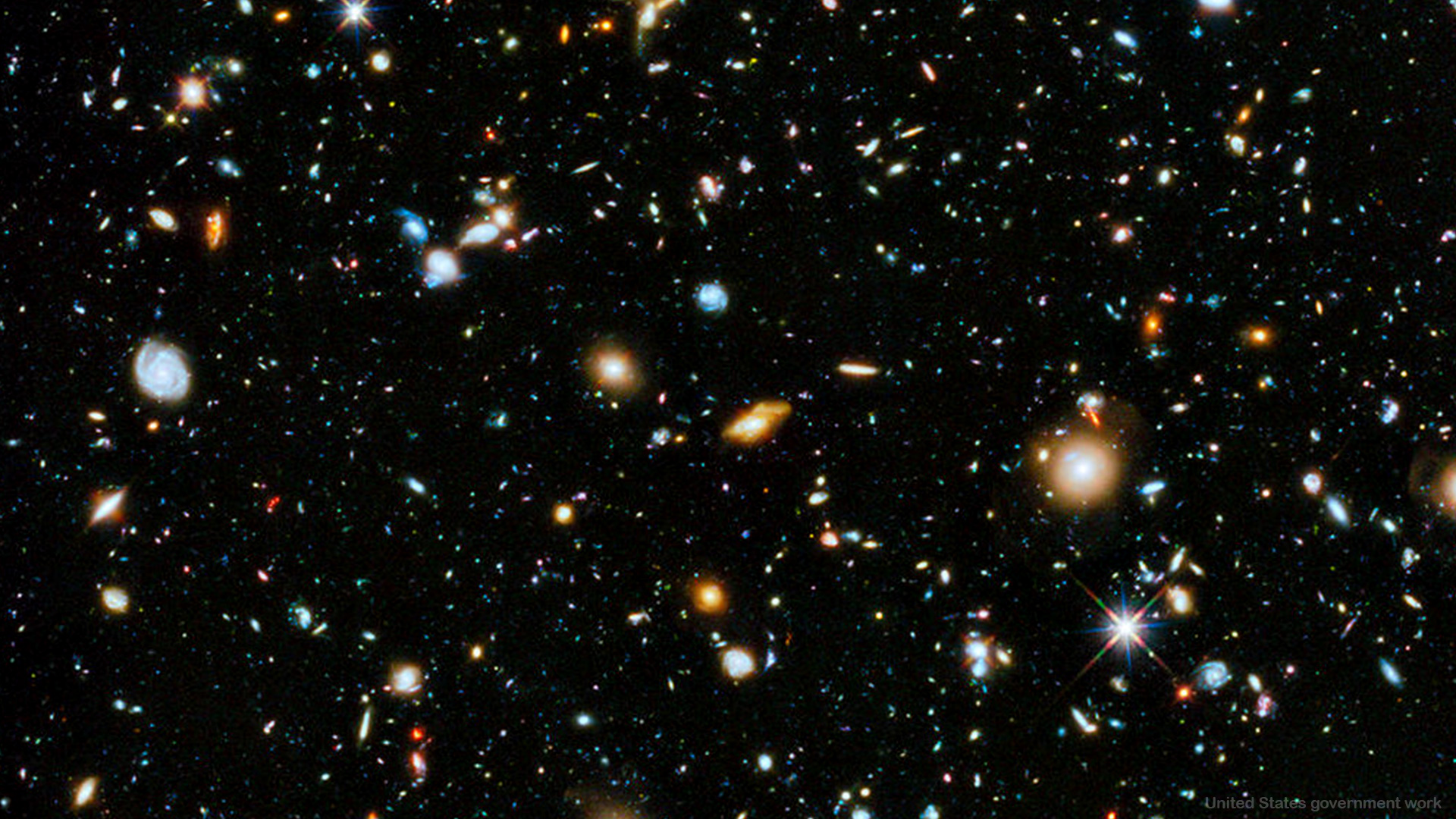 Cluster of Galaxies in Deep Dark space - HD Background