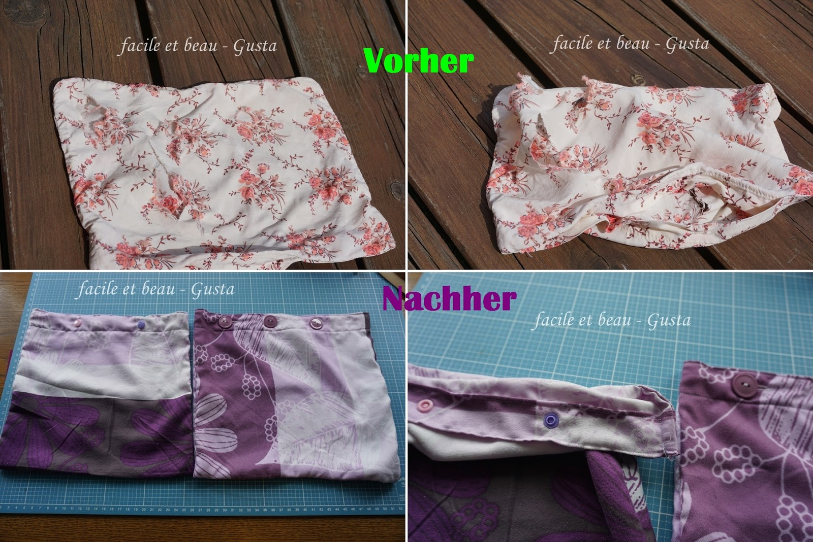 Upcycling Alte Bettwäsche Facile Et Beau Gusta Mini Kissenbezüge Upcycling Linkparty