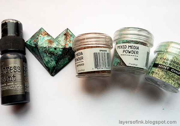 Layers of ink - Rust and Patina DIY Tutorial by Anna-Karin Evaldsson.