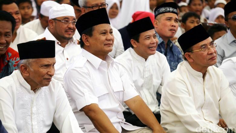 Amien Rais Yakin Prabowo Bisa Kalahkan Jokowi di 2019