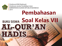 Pembahasan Soal Al-Quran Hadis Kelas VII KMA 183 2019 Bab III MENGGAPAI RIDHA ALLAH SWT DENGAN SIKAP DERMAWAN