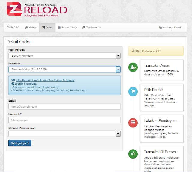Script Web Jual Pulsa Online Sistem Pembayaran dan Konfirmasi Otomatis