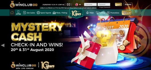 winclub88 online casino review mystery cash bonus