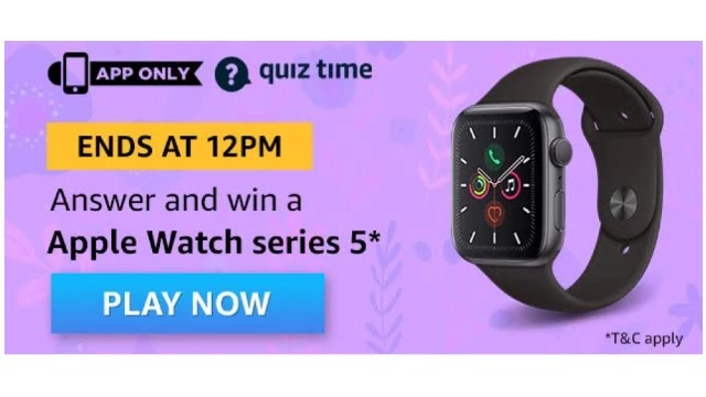 Amazon-Quiz-Answers-For-Today-8th-May-2020-Win-Apple-Watch-5