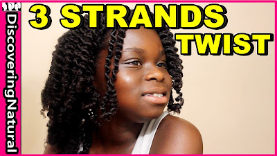 3 Strand Twist Out on Natural Hair | Jamaican Mango and Lime | DiscoveringNatural