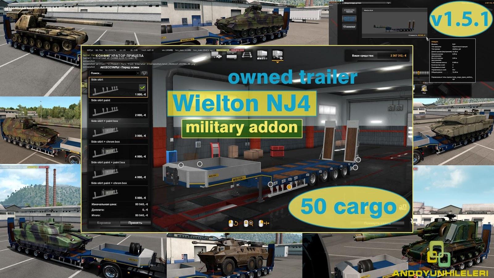 Euro Truck Simulator 2 Askeri Yük Dorseleri Modu