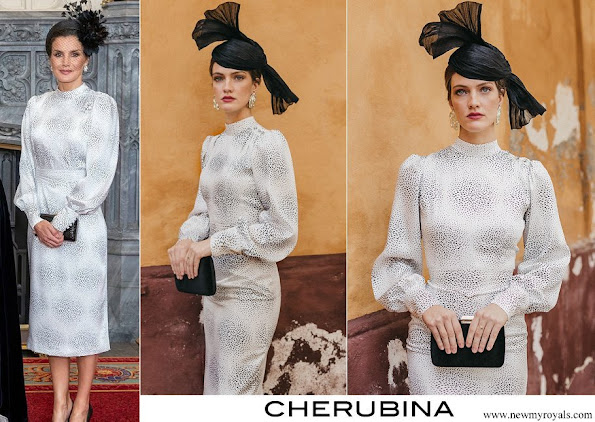 Queen Letizia wore Cherubina didi dress