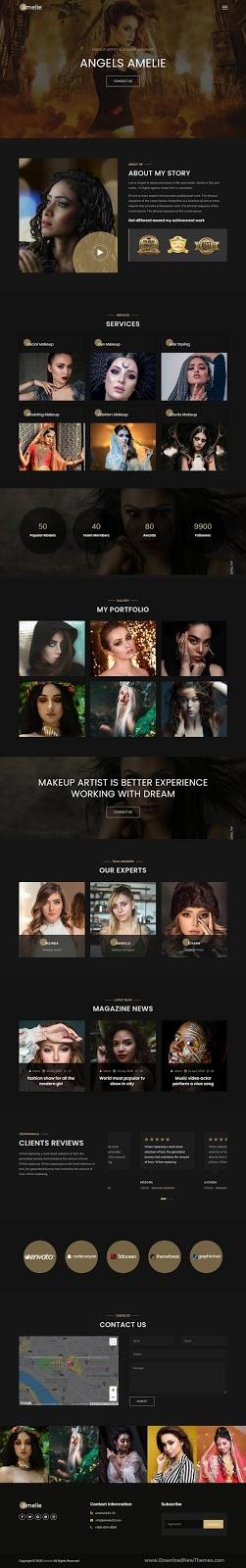 Makeup Artist & Model Portfolio Template