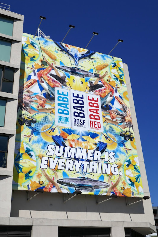 Babe with Bubbles Summer is everything billboard