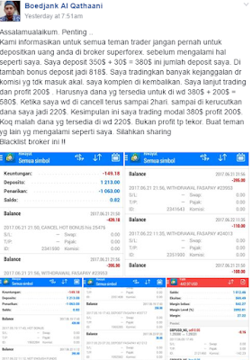 kecurangan broker superforex