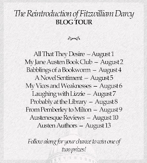 Blog tour schedule: The Reintroduction of Fitzwilliam Darcy by Christine Combe