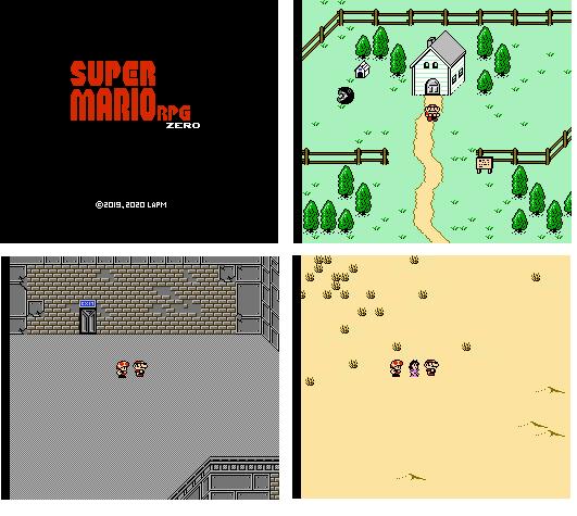 Super Mario RPG Zero (EarthBound Beginnings Hack ROM) Actualizacion Beta 1.4 25/04/2021 Super%2BMario%2BRPG%2BZero%2BBeta%2B1.0%2Bcollage
